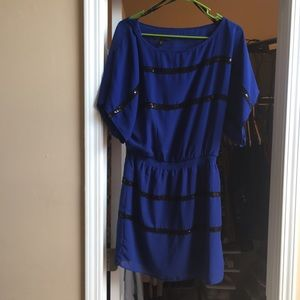 Short blue and black Jessica Simpson dress